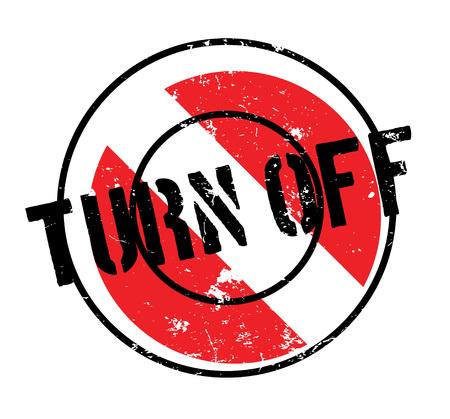 Turn Off rubber stamp Banco de Imagens - 84682917