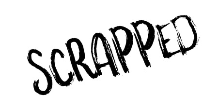 Scrapped rubber stamp. Grunge design with dust scratches. Effects can be easily removed for a clean, crisp look. Color is easily changed. Vettoriali
