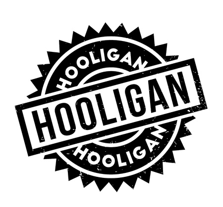 mobster: Hooligan rubber stamp Illustration