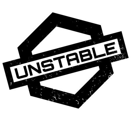 Onstabiele rubberzegel Stock Illustratie