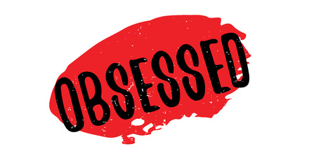 Obsessed rubber stamp Фото со стока - 84749503