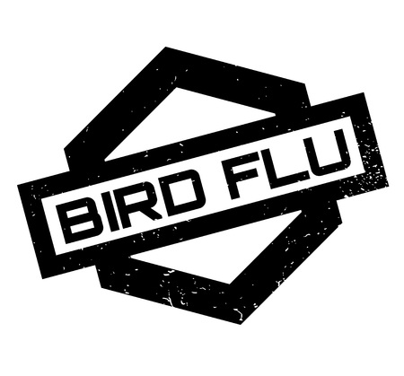 Bird Flu rubber stamp