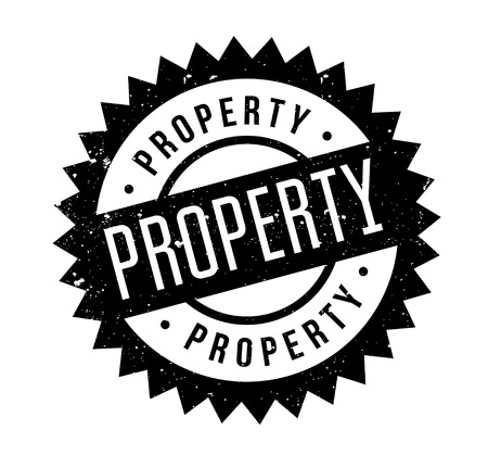 Property rubber stamp Illustration