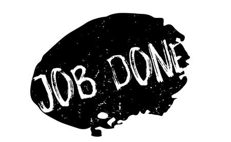 accomplish: Job Done rubber stamp