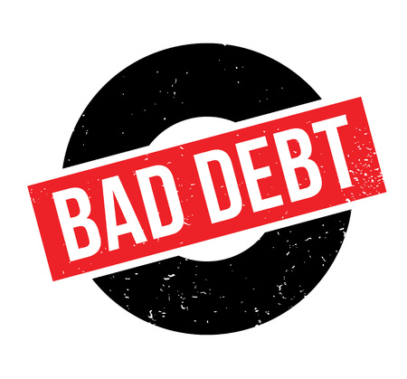 Bad Debt rubber stamp. Grunge design with dust scratches. Effects can be easily removed for a clean, crisp look. Color is easily changed.