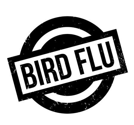 avian flu: Bird Flu rubber stamp. Grunge design with dust scratches. Effects can be easily removed for a clean, crisp look. Color is easily changed. Illustration