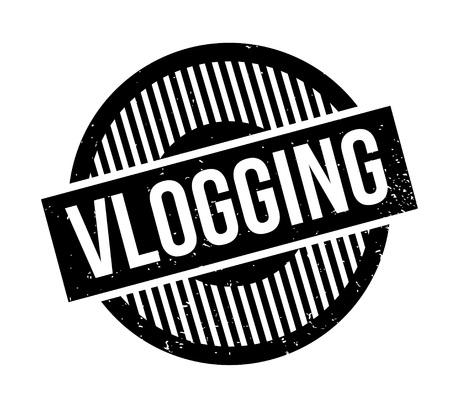 web presence internet presence: Vlogging rubber stamp