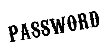 personal identification number: Password rubber stamp Illustration