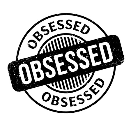 Obsessed rubber stamp Фото со стока - 84750611