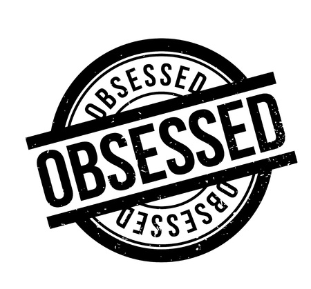 Obsessed rubber stamp Фото со стока - 84749926