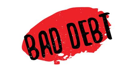 Bad Debt rubber stamp Ilustração