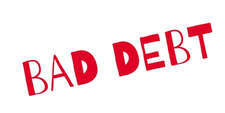 Bad Debt rubber stamp