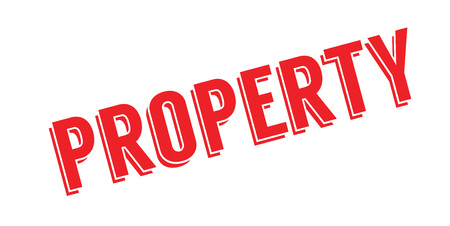 ownership equity: Property rubber stamp Illustration