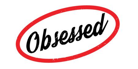 Obsessed rubber stamp Illustration