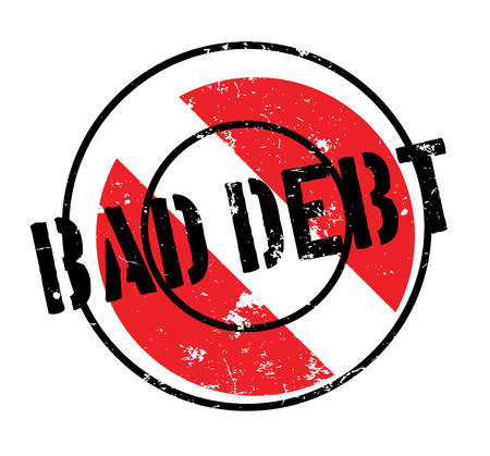 arrears: Bad Debt rubber stamp Illustration