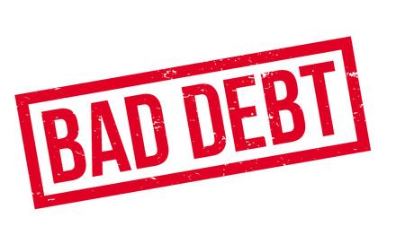 Bad Debt rubber stamp Illustration