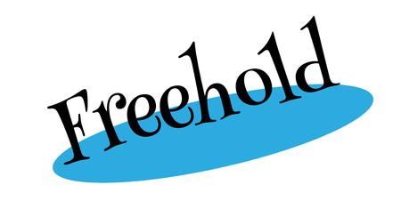 renting: Freehold rubber stamp Illustration