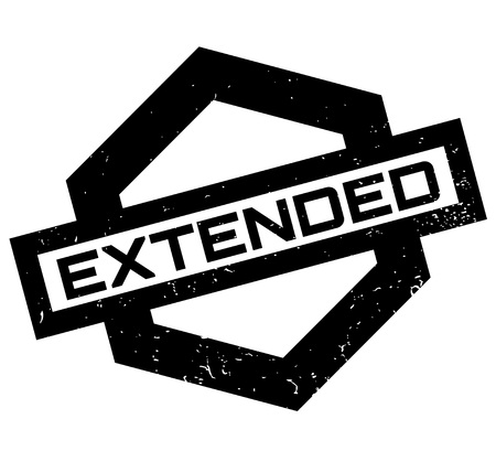 Extended rubber stamp