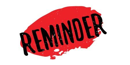 Reminder rubber stamp Illustration