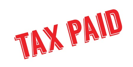 Tax Paid rubber stamp