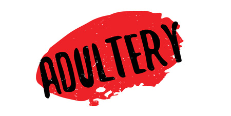 adultery: Adultery rubber stamp. Grunge design with dust scratches. Effects can be easily removed for a clean, crisp look. Color is easily changed.