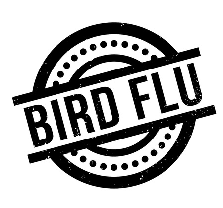 Bird Flu rubber stamp. Grunge design with dust scratches. Effects can be easily removed for a clean, crisp look. Color is easily changed. 向量圖像