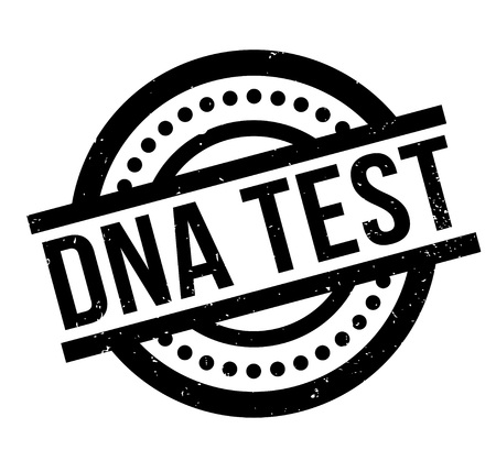 Dna Test rubber stamp. Grunge design with dust scratches. Effects can be easily removed for a clean, crisp look. Color is easily changed.