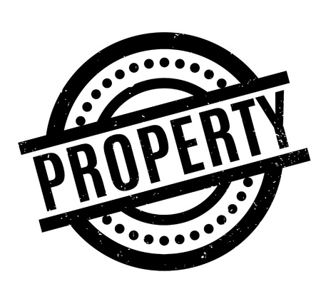Property rubber stamp. Grunge design with dust scratches. Effects can be easily removed for a clean, crisp look. Color is easily changed.