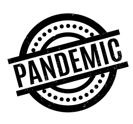infected: Pandemic rubber stamp. Grunge design with dust scratches. Effects can be easily removed for a clean, crisp look. Color is easily changed.