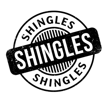 Shingles rubber stamp Illustration