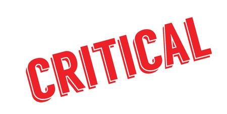 Critical rubber stamp Illustration