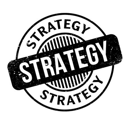 Strategy rubber stamp Illustration
