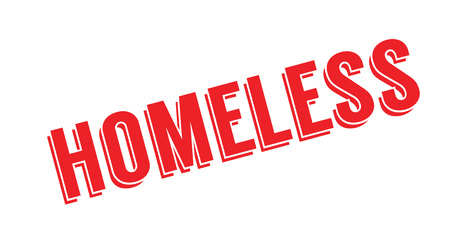 Homeless rubber stamp Illustration