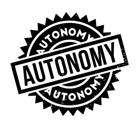 Autonomy rubber stamp Фото со стока - 84821450