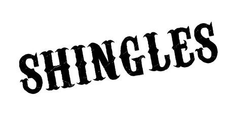 Shingles rubber stamp Ilustrace