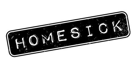 Homesick rubber stamp