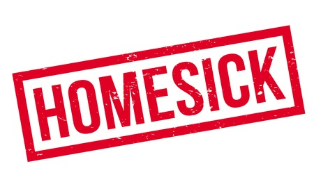 Homesick rubber stamp