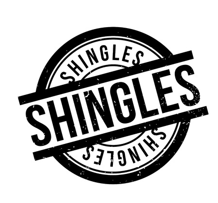 Shingles rubber stamp Illustration