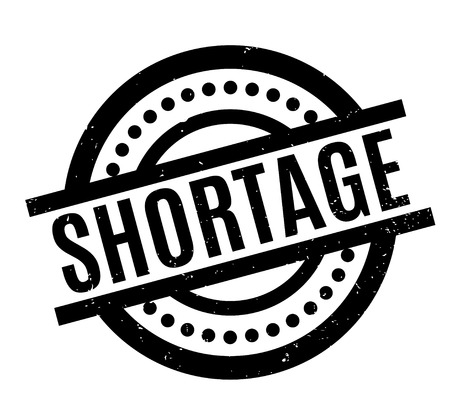Shortage rubber stamp 向量圖像