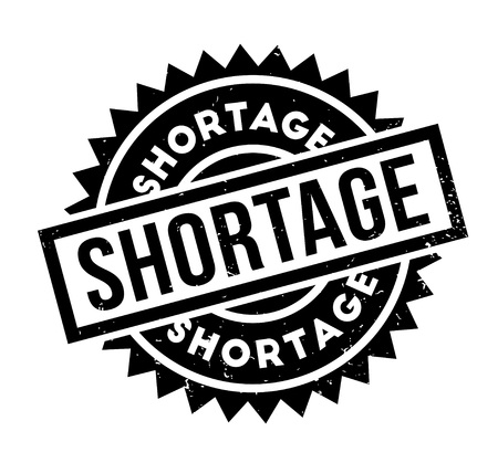 Shortage rubber stamp. Grunge design with dust scratches. Effects can be easily removed for a clean, crisp look. Color is easily changed.