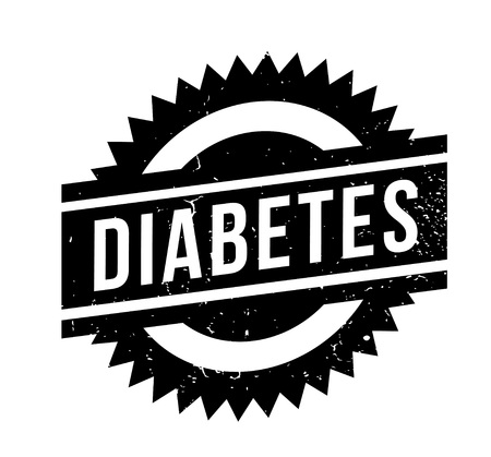type 1 diabetes: Diabetes rubber stamp. Grunge design with dust scratches. Effects can be easily removed for a clean, crisp look. Color is easily changed.