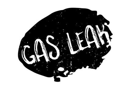 가스 누출 고무 도장 일러스트