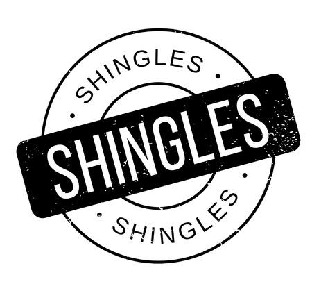 Shingles rubber stamp Ilustracja