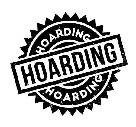 hoarding: Hoarding rubber stamp