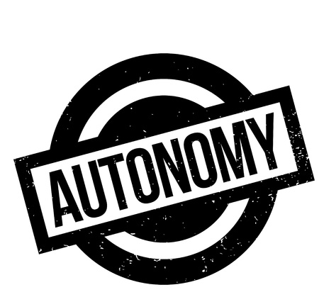 rationality: Autonomy rubber stamp. Grunge design with dust scratches. Effects can be easily removed for a clean, crisp look. Color is easily changed.