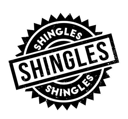 Shingles rubber stamp. Grunge design with dust scratches. Effects can be easily removed for a clean, crisp look. Color is easily changed.