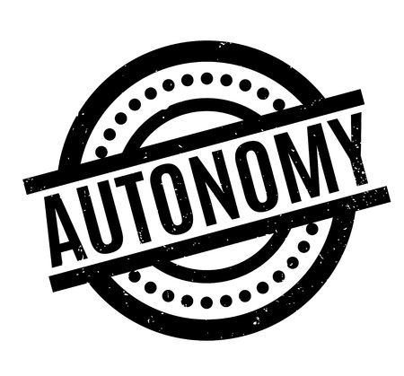 Autonomy rubber stamp. Grunge design with dust scratches. Effects can be easily removed for a clean, crisp look. Color is easily changed.