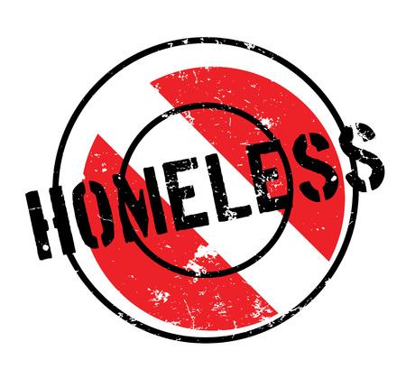 Homeless Stempel. Grunge-Design mit Staub Kratzer. Die Effekte können leicht für einen sauberen, frischen Look entfernt werden. Die Farbe ist leicht verändert.