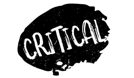 Critical rubber stamp Illustration