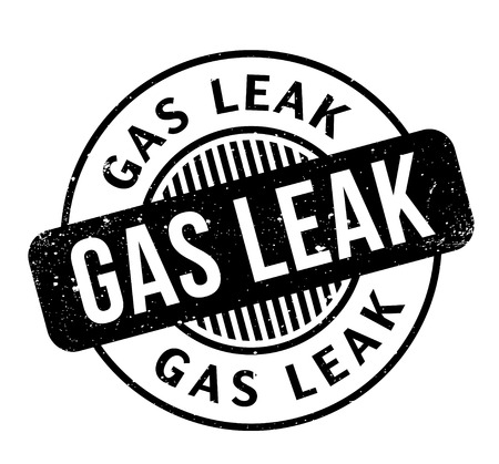 Gas Leak rubber stamp